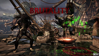getlinkyoutube.com-Mortal Kombat XL Predator Skinned Alive Brutality on All Characters