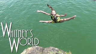 getlinkyoutube.com-Cliff Diving Gymnast | Big Time at the Lake | Whitney & Blakely
