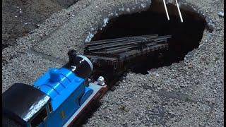 getlinkyoutube.com-Thomas and Friends: Sodor's Legend of the Lost Treasure Remake Clip - Cavern Sinkhole Crash