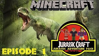 Minecraft - Let's Play - Jurassic Adventure - Jurassic Craft - Episode 1