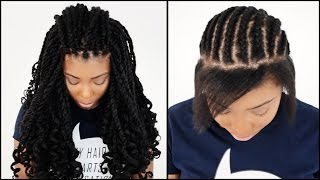 Kinky Twists Crochet  START TO FINISH In 7 Minutes!!!