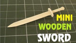 getlinkyoutube.com-How to make a Mini Wooden Sword using a Popsicle Stick - Toy Weapon