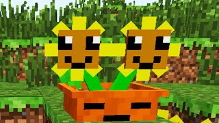 getlinkyoutube.com-Plants vs. Zombies 2 Minecraft Mod Building Twin Flowers!
