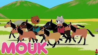 getlinkyoutube.com-Mouk - Wild horses S02E10 | Cartoon for kids