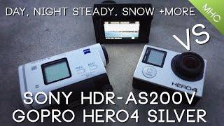 getlinkyoutube.com-Sony HDR-AS200V vs GoPro Hero4 SILVER HD