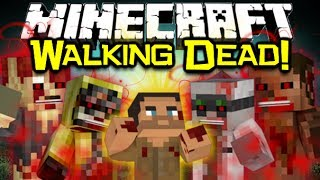 Minecraft THE CRAFTING DEAD MOD Spotlight! - Walking Dead & DayZ Survival! (Minecraft Mod Showcase)