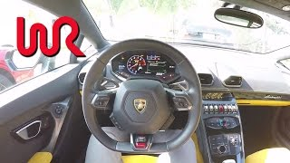 getlinkyoutube.com-2015 Lamborghini Huracán LP 610-4 - WR TV POV City Drive