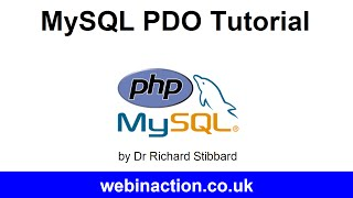 MySQL PDO Tutorial Lesson 1 - Connection