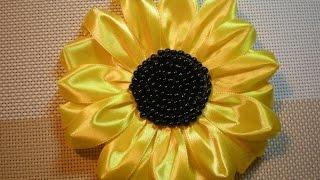 getlinkyoutube.com-Подсолнух своими руками. / DIY Flowers