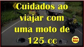 Viajar com uma moto de 125cc - Cuidados - Suzuki Intruder 125