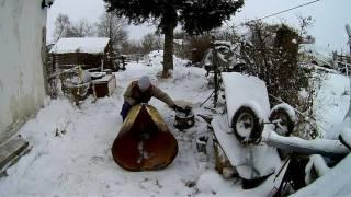 getlinkyoutube.com-Женскими руками. Для снега к мотоблоку часть 2