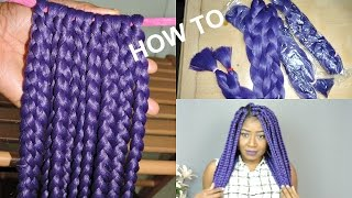 HOW TO PREBRAID JUMBO BOX BRAIDS.