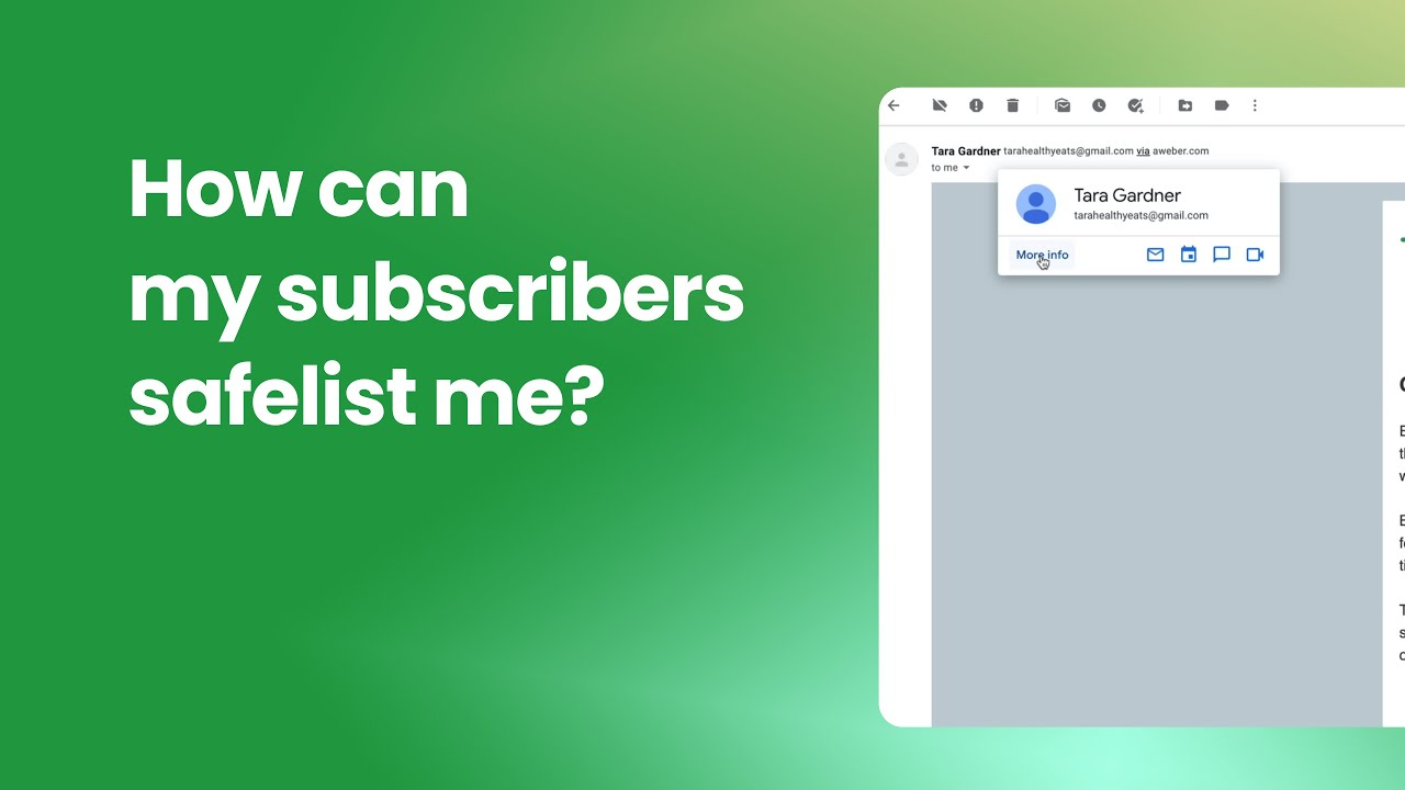 How Can My Subscribers Safelist Me?