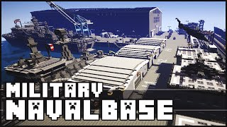 getlinkyoutube.com-Minecraft - Military Base / Naval Base with Epic Secret!