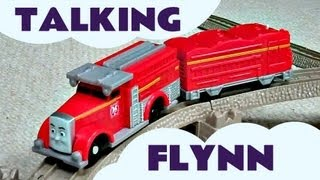 getlinkyoutube.com-Thomas And Friends Trackmaster TALKING FLYNN Kids Toy Train Set Thomas The Tank Engine