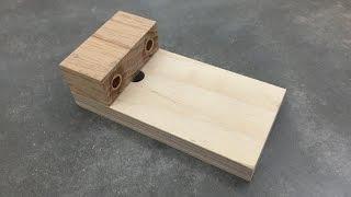 getlinkyoutube.com-Make a Simple Doweling Jig