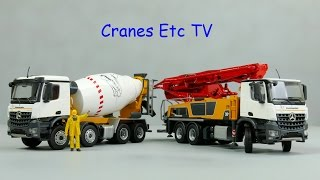 getlinkyoutube.com-Conrad Putzmeister M38-5 Concrete Pump and P9G UL Truck Mixer by Cranes Etc TV