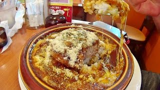 getlinkyoutube.com-【めし動画】 デニーズ 「焼きチーズハンバーグカレードリア」を食べるだけの動画