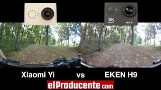 getlinkyoutube.com-Xiaomi Yi vs EKEN H9 4K Action Camera - (1080p 60fps)