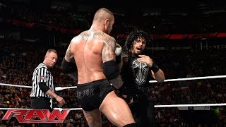 Roman Reigns vs. Randy Orton: Raw, May 4, 2015 width=