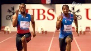 getlinkyoutube.com-Yohan Blake beats Tyson Gay in 100m at Lausanne - Universal Sports