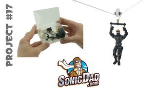 getlinkyoutube.com-Action Figure Zip Line - SonicDad Project #17