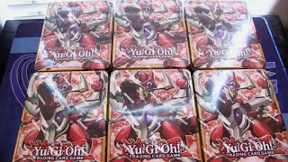 getlinkyoutube.com-Yugioh Odd-Eyes Pendulum Dragon Mega Tin 2015 6 Tins Opening