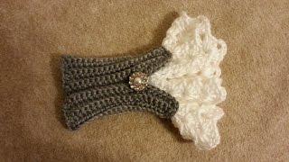getlinkyoutube.com-CROCHET How to #Crochet Beautiful Victorian Style Wrist Arm Cuff #TUTORIAL #181
