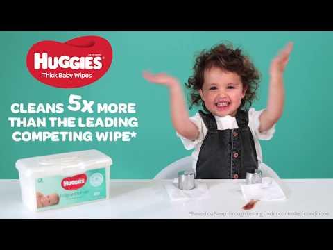Huggies Fragrance Free Baby Wipes - 80 Pack