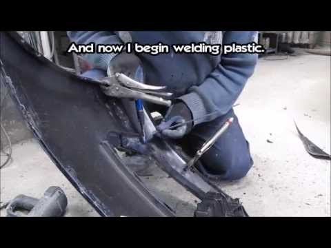 Bumper repair method 2. Ремонт бампера способ 2.