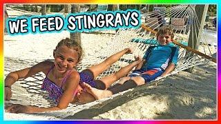 TYLER GETS BIT BY A STINGRAY! | CASTAWAY CAY