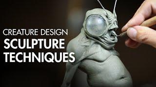 getlinkyoutube.com-Creature Design Part 1 - Sculpture Techniques with Jordu Schell - PREVIEW