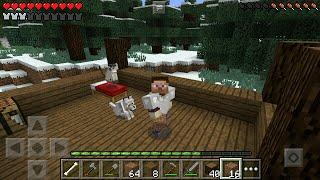 getlinkyoutube.com-Выживание втроем Minecraft PE 0.13.1 - 2 новогодний домик