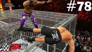 getlinkyoutube.com-WWE 2K16 My Career Mode - Pushing Brock Lesnar OFF THE HELL IN A CELL  (EP. 78)