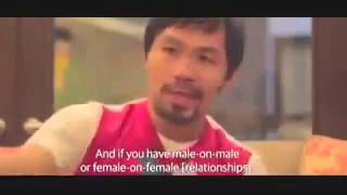 Full Interview MANNY PACQUIAO on LGBT