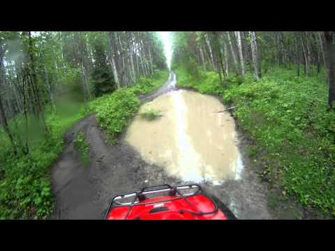 2007 honda foreman 500 & 2009 yamaha grizzly 700 trail ride