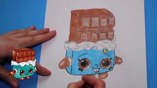 "getlinkyoutube.com-How to Draw Shopkins Season 1 ""Cheeky Chocolate"" Step By Step Easy | Toy Caboodle"