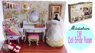 getlinkyoutube.com-🎉DIY Miniature Doll Bride Dressing Room Display Kit ! ミニチュアドールハウス 소형 인형의 집 ♥DarlingDolls DIY