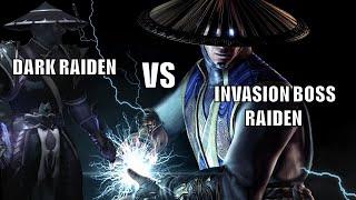 getlinkyoutube.com-MKX - Dark Raiden VS Invasion Boss Raiden