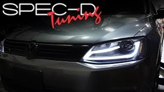 SPECDTUNING INSTALLATION VIDEO: 2011 - 2014 VOLKSWAGEN JETTA PROJECTOR HEADLIGHTS