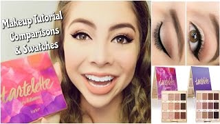 getlinkyoutube.com-NEW Tartelette 2 In Bloom: Makeup Tutorial + Swatches and Comparisons | Mikayla Snow