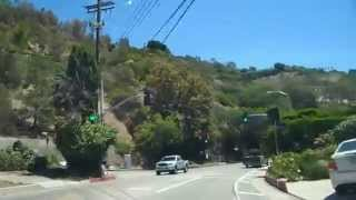 Tour Benedict Canyon Drive in the city of Beverly Hills & the Beverly Hills Post Office area 90210