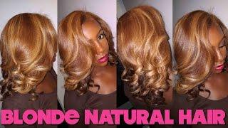getlinkyoutube.com-Blonde Bombshell : Natural Hair