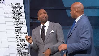 Charles Barkley and Kenny Smith struggle to agree on their joint March Madness bracket