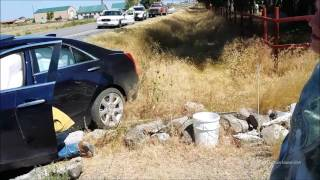 Wreck caught on security video Don't TEXT and DRIVE width=