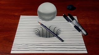 getlinkyoutube.com-Drawing a 3D Hole/Sphere with Lines