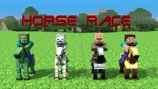 getlinkyoutube.com-Horse Race - Minecraft Animation