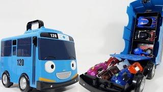 getlinkyoutube.com-터닝메카드가 캐리어 타요 장난감 메카니멀 수납함 놀이 버스 [대문밖장난감]