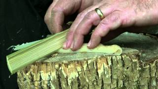 getlinkyoutube.com-DIY Bamboo Knife That Actually Cuts