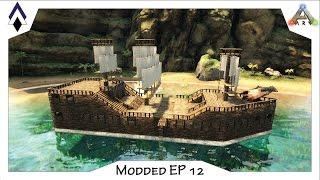 getlinkyoutube.com-Modded ARRRRK Ep12: Ye Olde Pirate ship build